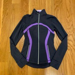 Lululemon jacket size 4 gray purple
